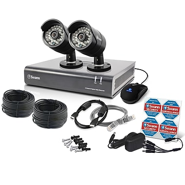 Swann SWDVK-444002 4 Channel Analog 720p Digital Video Recorder & 2 x PRO-A850 Cameras