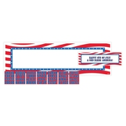 "Amscan Personalized Banner, 20"" x 65"", Red/White/Blue (129450)"