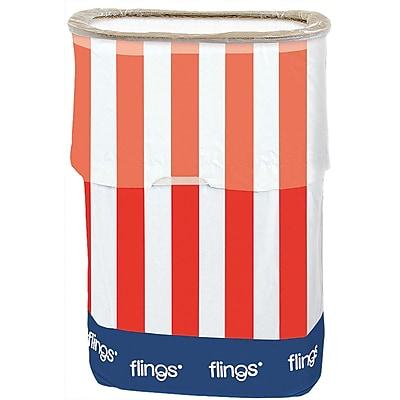 Amscan Patriotic Fling Bin, 13gal, Red/White/Blue, 3/Pack (130101)