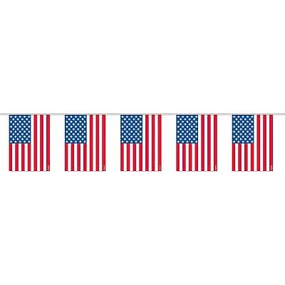 Amscan Plastic Flag Garland, 6.5