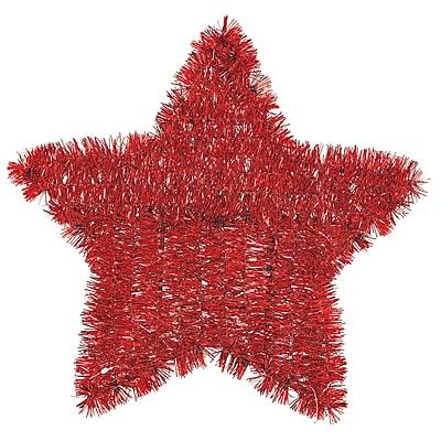 Amscan Red Tinsel Star, 11.5