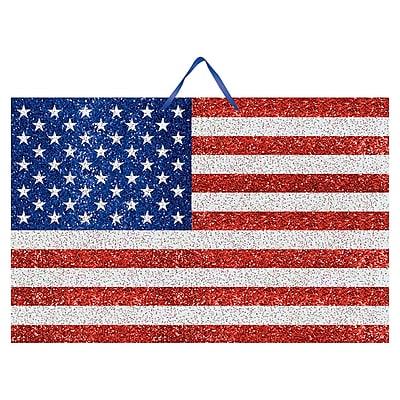 Amscan MDF Glitter Flag Sign, 9.25