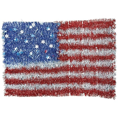 Amscan Deluxe Tinsel Flag, 12.8125