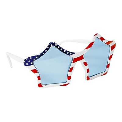 Amscan Patriotic Star Glasses, Red/White/Blue, 2/Pack (250115) 2409561