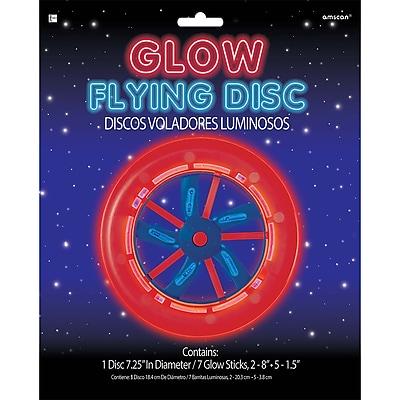 Amscan Patriotic Glow Disk, 7.25