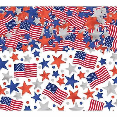 Amscan Patriotic Confetti, 2.5oz, Red/White/Blue, 3/Pack (369170)