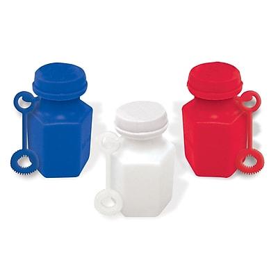 Amscan Mini Bubble Favors, .6oz, Red/White/Blue, 3/Pack, 24 Per Pack (390432)
