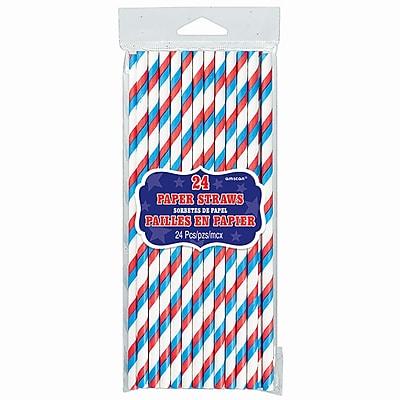 Amscan Paper Straws Stripes, 7.75