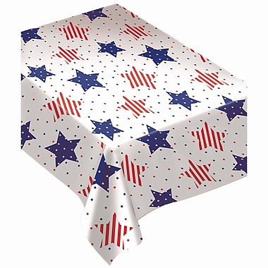 Amscan Star Flannel Back Tablecover, 52