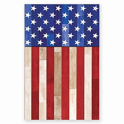 Amscan Old Glory Plastic Tablecover, 54