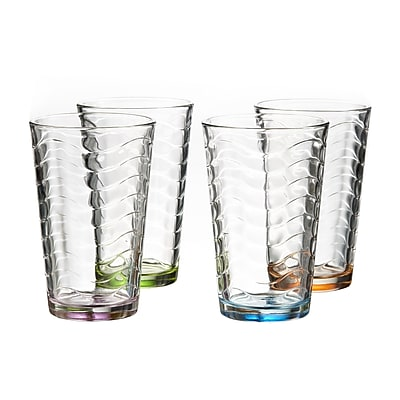 Style Setter Allure 14 oz. Highball glass (Set of 4)
