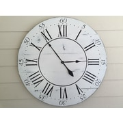 essex hand crafted wood products Oversized 36'' Chalkwell Vintage Style Painted Wood Wall Clock