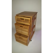 JA Marketing 3 Drawer Bamboo Chest