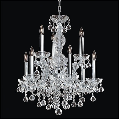 Glow Lighting Maria Theresa 9-Light Crystal Chandelier