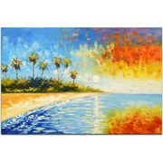 Omax Decor Blissful Paradise Painting on Canvas