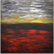 Omax Decor The Flaming Sky Painting on Canvas
