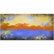 Omax Decor The Orange Sky Painting on Canvas