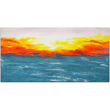 Omax Decor Shimmering Sunrise Painting on Canvas