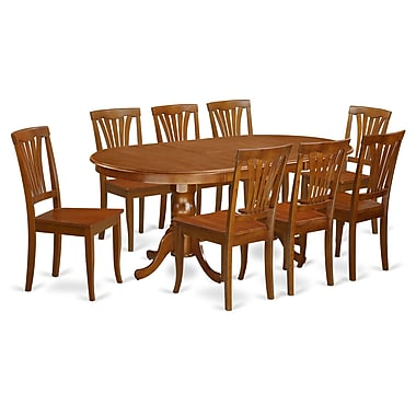 Wooden Importers Newton 9 Piece Dining Set; Saddle Brown