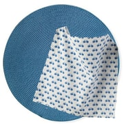 TAG Bike Round Woven Placemat and Napkin (Set of 2)