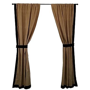 Edie Inc. Mombasa Solid Semi-Sheer Rod Pocket Single Curtain Panel