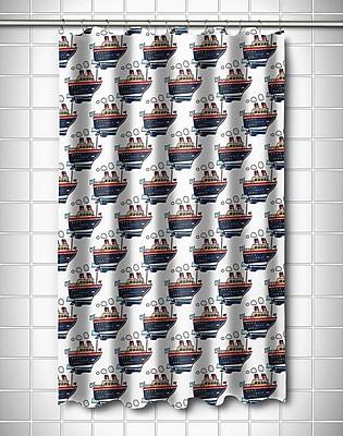 Island Girl Home Nautical Cruise Ship Shower Curtain