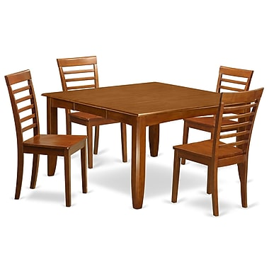Wooden Importers Parfait 5 Piece Dining Set; Wood Seat
