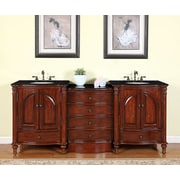 Silkroad Exclusive Leila 83'' Double Bathroom Vanity Set