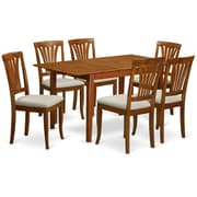 Wooden Importers Picasso 7 Piece Dining Set; Microfiber