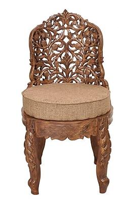 ZarposhIndia Maharaja Carved Side Chair