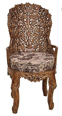 ZarposhIndia Maharani Carved Armchair