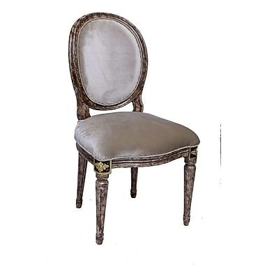 ZarposhIndia Delhi Upholstered Carving Side Chair