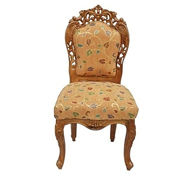 ZarposhIndia Maysore Carved Side Chair
