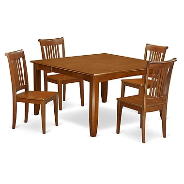 Wooden Importers Parfait 5 Piece Dining Set; Non-Upholstered Wood