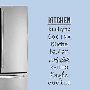 SweetumsWallDecals Words for the Kitchen Wall Decal; Dark Gray