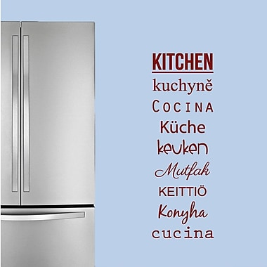SweetumsWallDecals Words for the Kitchen Wall Decal; Cranberry