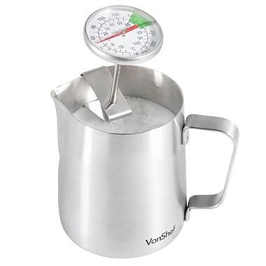 VonShef Milk Frothing Pitcher; 4.8'' H x 4.7'' W x 4.'' D