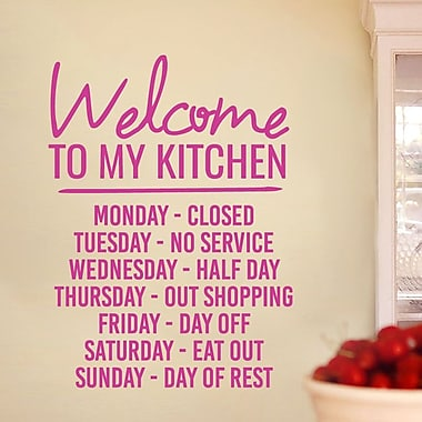 SweetumsWallDecals ''Welcome to My Kitchen'' Wall Decal; Hot Pink