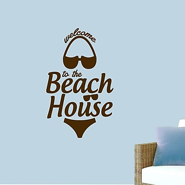 SweetumsWallDecals ''Welcome to the Beach House'' Wall Decal; Brown