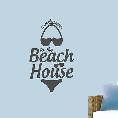 SweetumsWallDecals ''Welcome to the Beach House'' Wall Decal; Dark Gray