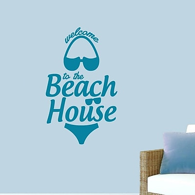 SweetumsWallDecals ''Welcome to the Beach House'' Wall Decal; Teal