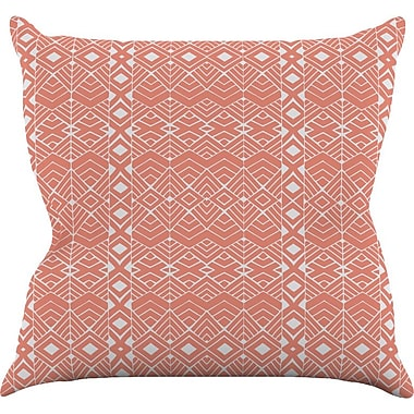 KESS InHouse Aztec Roots by Pom Graphic Tribal Throw Pillow; 18'' H x 18'' W x 3'' D