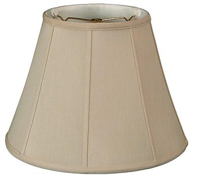 RoyalDesigns Regal 14'' Silk/Shantung Empire Lamp Shade; Beige