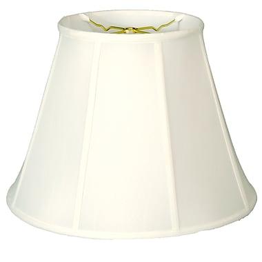 RoyalDesigns Regal 12'' Silk/Shantung Empire Lamp Shade; White