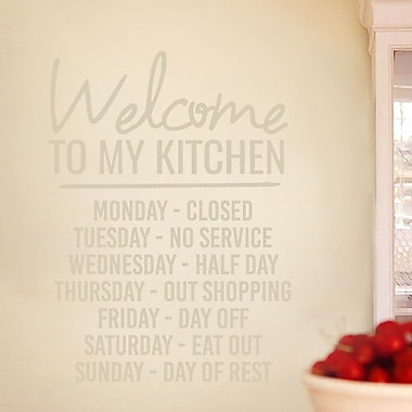 SweetumsWallDecals ''Welcome to My Kitchen'' Wall Decal; Beige