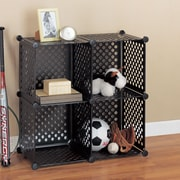 OIA Organize It All Perforated Cube 30.25'' Shelving Unit (Set of 4)
