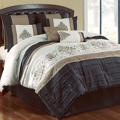 Hallmart Collectibles Country Manor Blackmoore 8 Piece Comforter Set; King