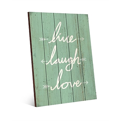 Click Wall Art Back to School Live Laugh Love Textual Art; 14'' H x 11'' W x 1.5'' D