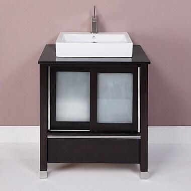 DecoLav Tyson 31'' Single Bathroom Vanity Set; Espresso