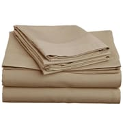 Off To Bed 1500 Thread Count Twin Sheet Set; Taupe
